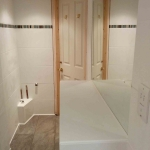 Tiling Door and Mirror in Leafield