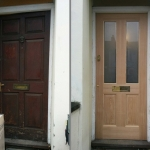 New Oak Door with Locks and Letterbox in Wytham Street, Oxford