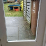 Door before Cat Flap Installed