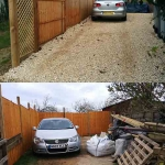 New Fence and Gravel Drive in Leafield
