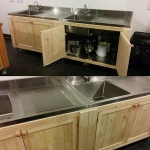 Design & creation of cupboards in commercial kitchen Longhope, Herefordshire